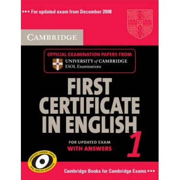 Cambridge First Certificate in English 1 Self Study Pack
